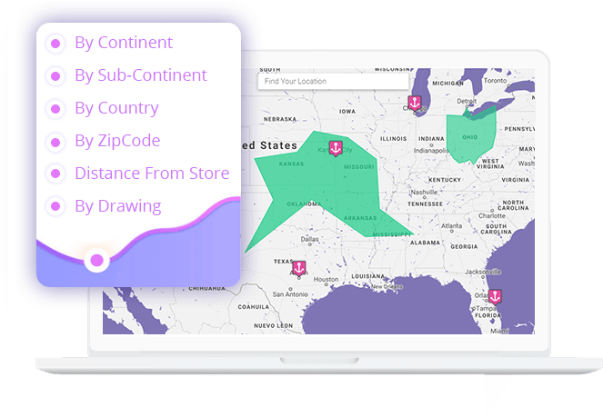 wordpress woo delivery area pro plugin for checking continent country zip code